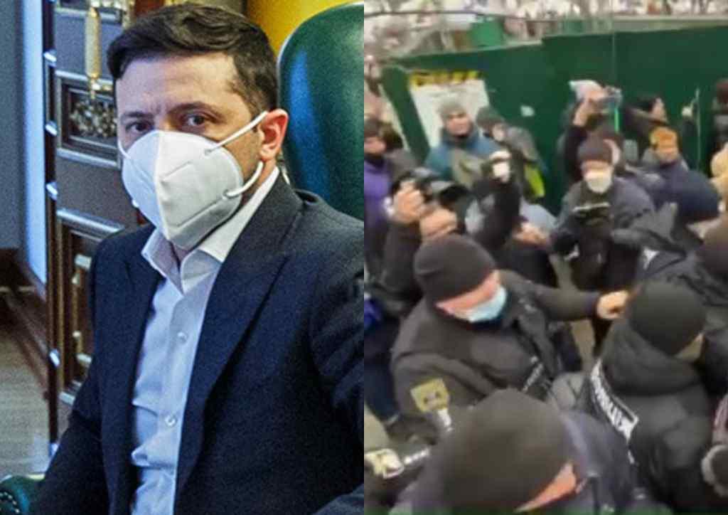 Просто зараз! У центрі Києва відбувається немислиме – сутички і бійки між протестувальниками і поліцією. Зеленський в ауті!