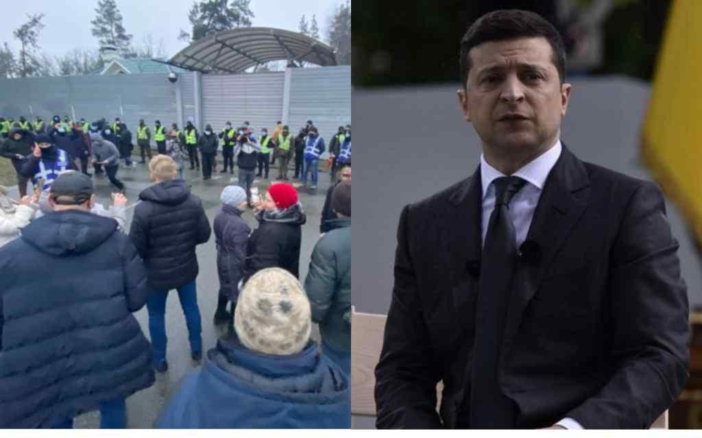 """Зеленський в шоці! Вони прийшли туди, поліція на місці – новий протест. Країна на ногах, скандальне рішення: """"забалакають"""""""