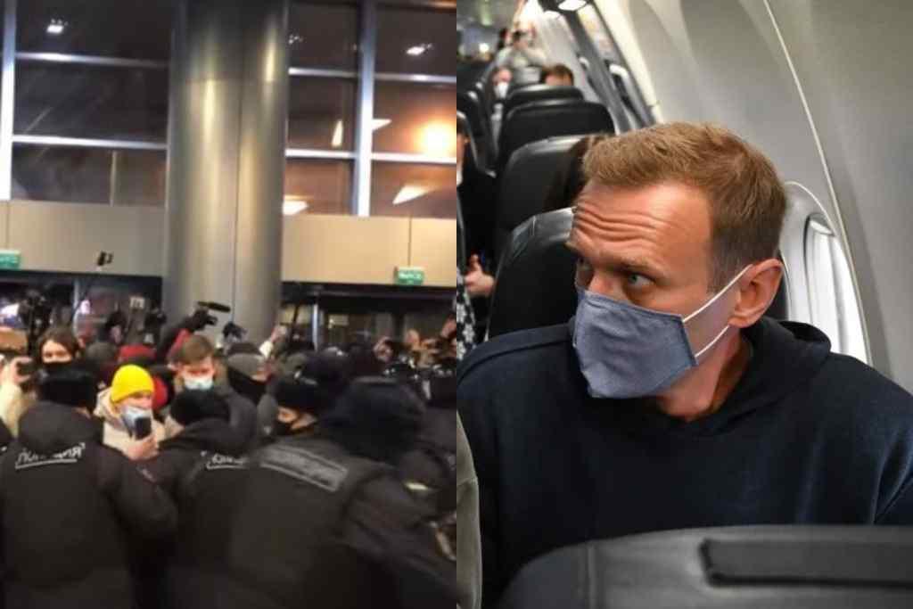 Навальний в шоці! В аеропорту відбувається немислиме – масові затримання, поліція витісняє людей. Увесь світ в очікуванні!