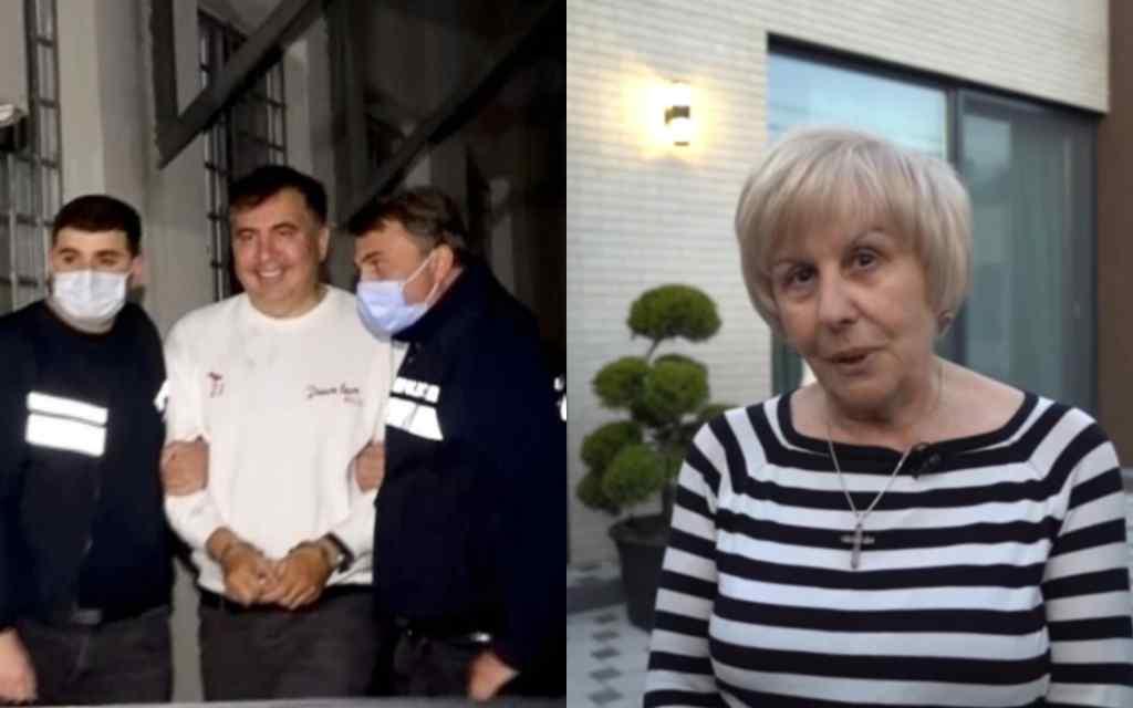 Після арешту! Мама Саакашвілі вже в Грузії: думала, що він в Україні. Зі сльозами на очах